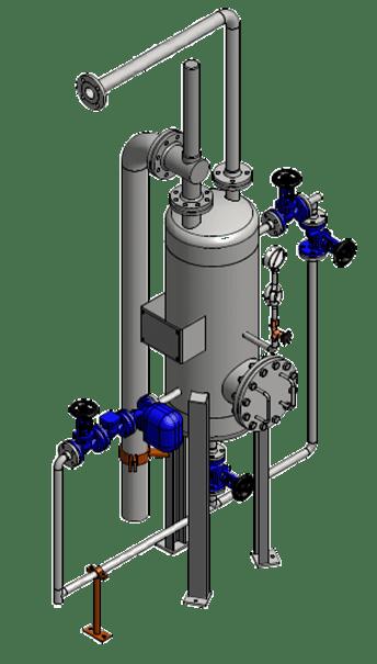Flashvat spuiwater warmeteterugwinning
