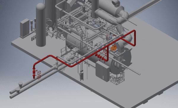 3d model fabriekslayout
