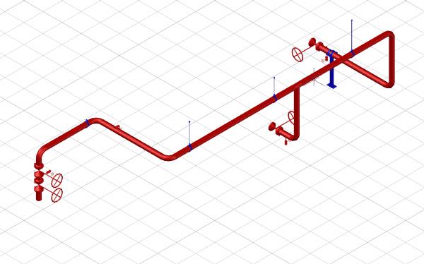 Mechanical engineering 3d model leidingwerk
